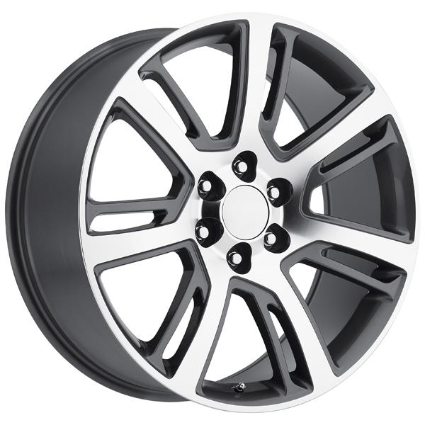 CADILLAC ESCALADE 2015 STYLE 48 GREY MACHINED FACE RIM by FACTORY REPRODUCTIONS WHEELS