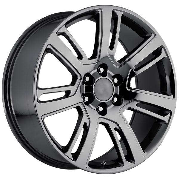CADILLAC ESCALADE 2015 STYLE 48 PVD BLACK CHROME RIM by FACTORY REPRODUCTIONS WHEELS