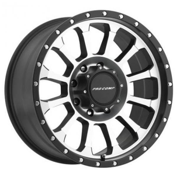 ROCKWELL SERIES 3534 BLACK RIM with MACHINED FACE by PRO COMP ALLOYS WHEELS