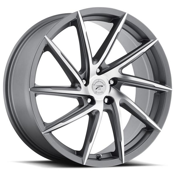 HAWK 433 ANTHRACITE GREY RIM with DIAMOND CUT FACE by PLATINUM WHEELS