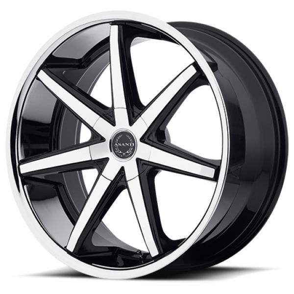 ABL-9 MACHINED FACE RIM with SS LIP by ASANTI WHEELS