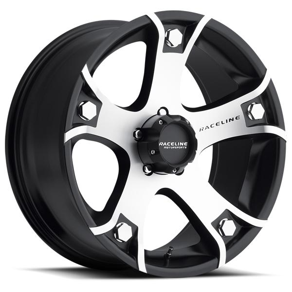 926M GUNNER BLACK RIM with MACHINED FACE by RACELINE WHEELS