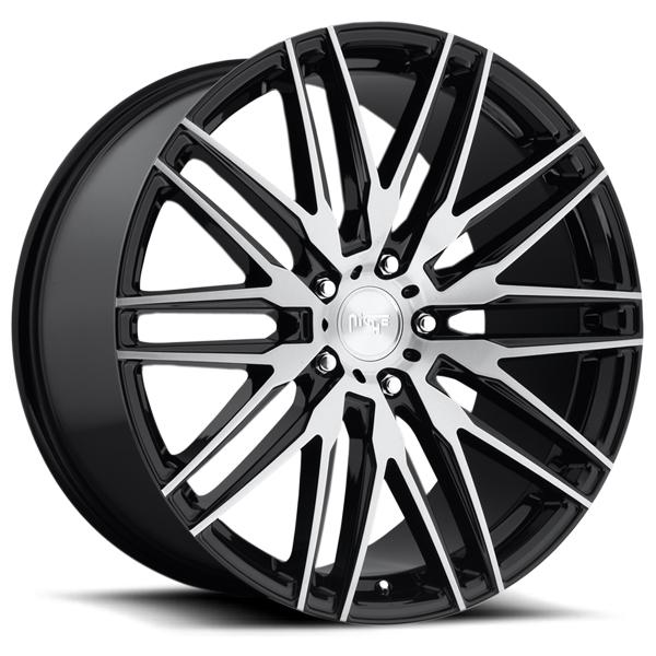 ANZIO M165 GLOSS BLACK RIM with BRUSHED FACE by NICHE WHEELS
