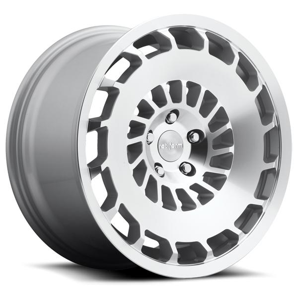CCV R135 SILVER MACHINED RIM by ROTIFORM CAST COLLECTION