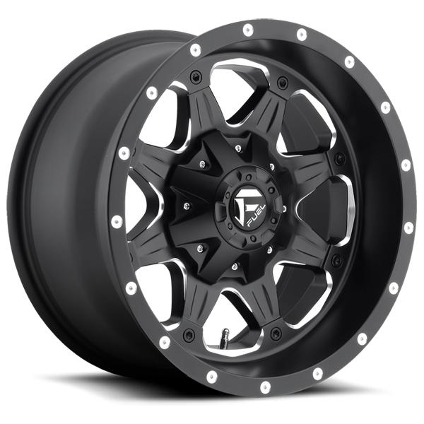 BOOST D534 BLACK RIM with MILLED ACCENTS by FUEL OFFROAD WHEELS