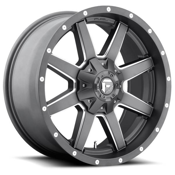 MAVERICK D542 ANTHRACITE RIM with MILLED SPOKES by FUEL OFFROAD WHEELS