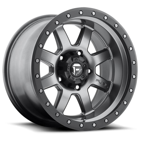 TROPHY D552 ANTHRACITE RIM with MATTE BLACK RING by FUEL OFFROAD WHEELS