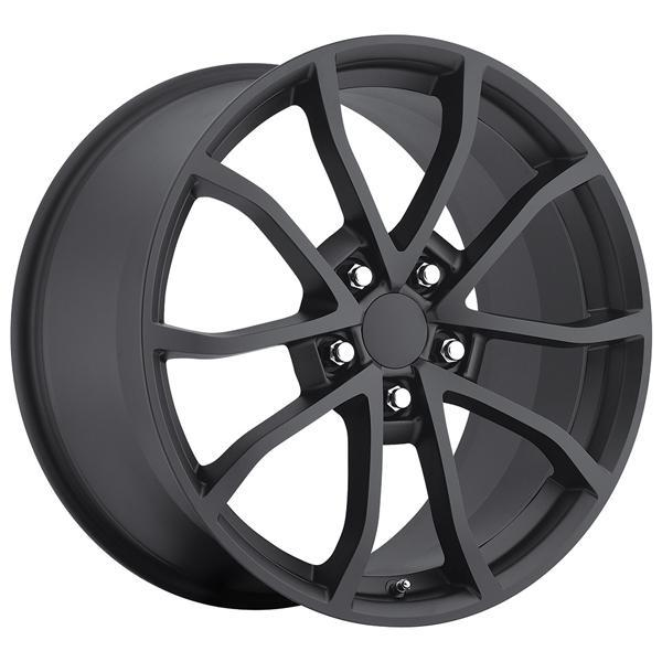 FACTORY REPRODUCTION CORVETTE CUP C6 2012 STYLE 25 SATIN BLACK RIM DISPLAY SET 1 SET ONLY - SOLD AS IS by SPECIAL BUY WHEELS