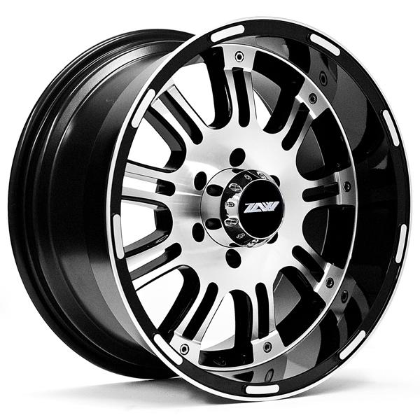 ZOOM T89 BLACK RIM with MACHINED FACE by SPECIAL BUY WHEELS