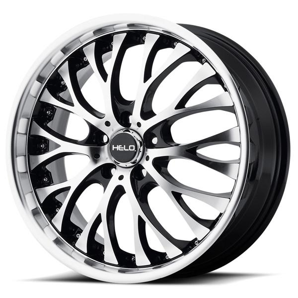 HE890 GLOSS BLACK RIM with MACHINED FACE by HELO WHEELS