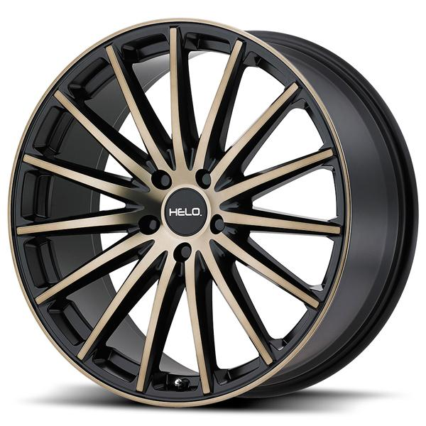 HE894 SATIN BLACK RIM with MACHINED FACE and TINTED CLEAR by HELO WHEELS