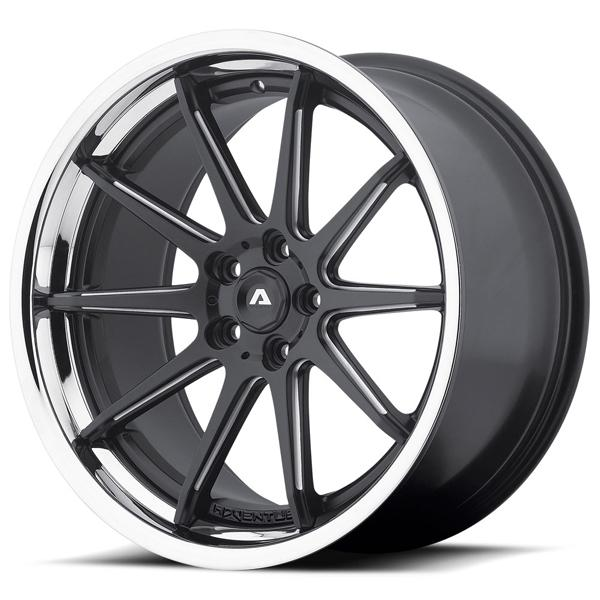 AVS-4 MATTE BLACK MILLED RIM with SS LIP by ADVENTUS WHEELS