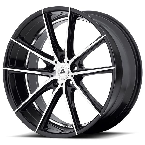 AVX-10 GLOSS BLACK RIM with MACHINED FACE by ADVENTUS WHEELS