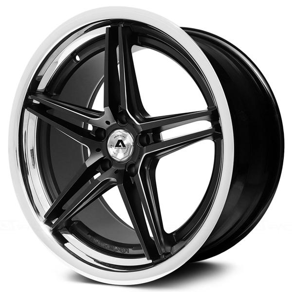 AVS-1 MATTE BLACK MILLED RIM with SS LIP by ADVENTUS WHEELS