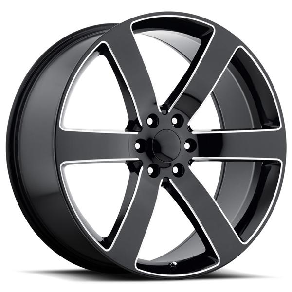 CHEVY TRAILBLAZER SS STYLE 32 BLACK MILLED RIM by FACTORY REPRODUCTIONS WHEELS