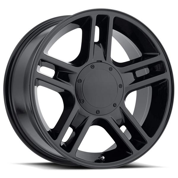 FORD 2000 F-150 HARLEY STYLE 51 GLOSS BLACK RIM by FACTORY REPRODUCTIONS WHEELS