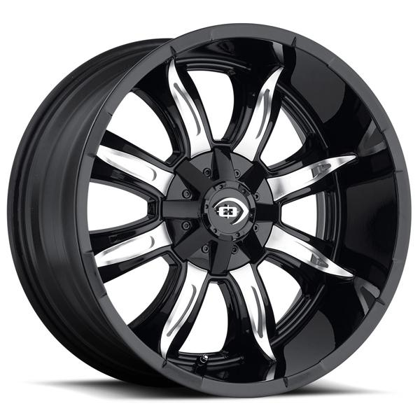 MANIC 423 OFF-ROAD GLOSS BLACK RIM with MACHINED FACE by VISION WHEELS