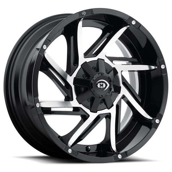 PROWLER 422 OFF-ROAD GLOSS BLACK RIM with MACHINED FACE by VISION WHEELS