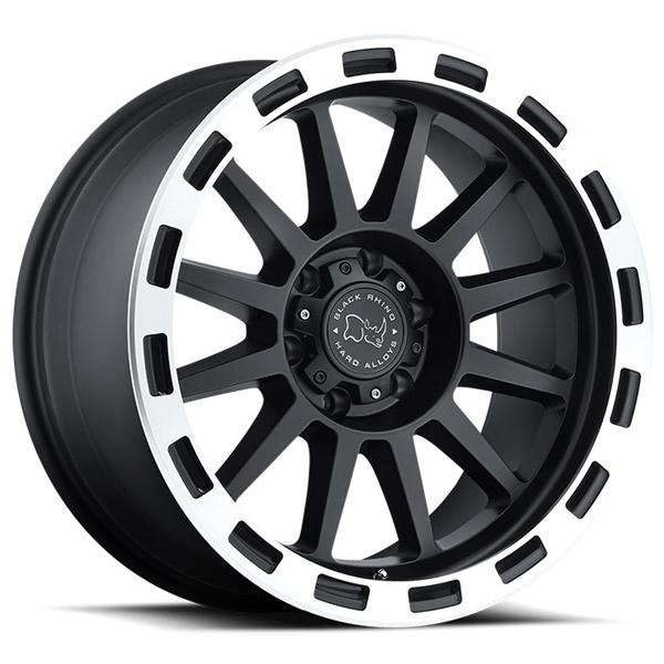 REVOLUTION MATTE BLACK RIM with MACHINED LIP EDGE by BLACK RHINO WHEELS