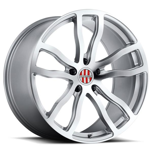 ENDURANCE SILVER RIM with MIRROR CUT FACE and MILLED SPOKES by VICTOR EQUIPMENT WHEELS
