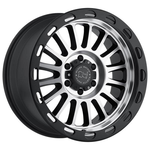 TAUPO MATTE BLACK RIM with MACHINED FACE by BLACK RHINO WHEELS