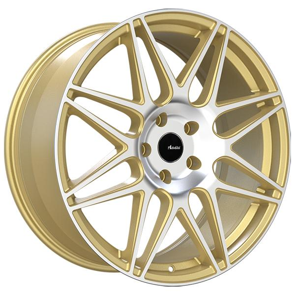 CL CLASSE GOLD RIM with MACHINED FACE by ADVANTI WHEELS