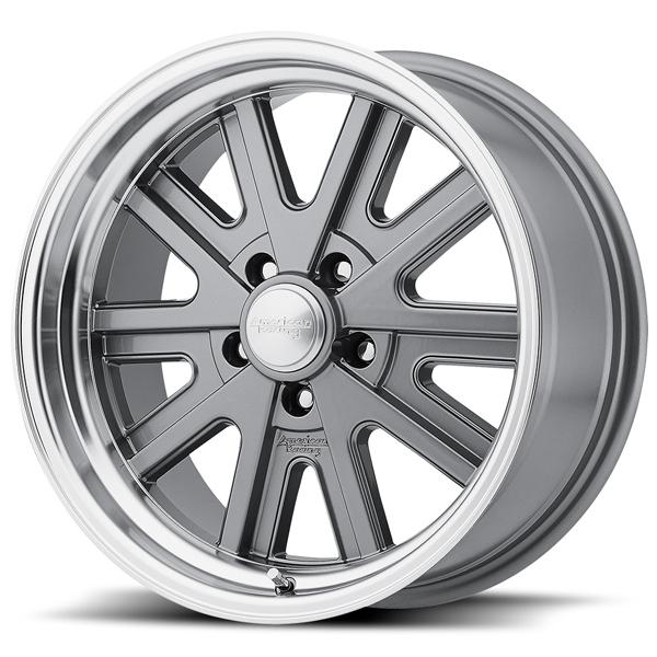 VN527 MAG GRAY RIM with MACHINED LIP by AMERICAN RACING WHEELS