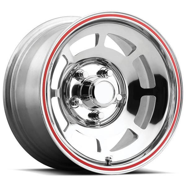 CORVETTE YJ8 76-79 STYLE 23 POLISHED RIM with RED LIP by FACTORY REPRODUCTIONS WHEELS