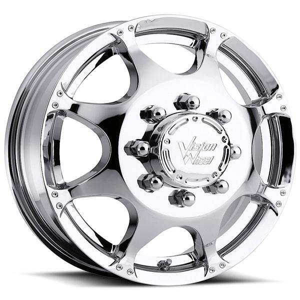 CRAZY EIGHTZ 715 DUALLY CHROME FRONT RIM by VISION WHEELS