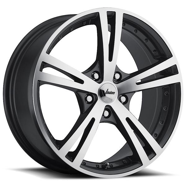XCITE 463 FWD GUNMETAL RIM with MACHINED FACE by VISION WHEELS