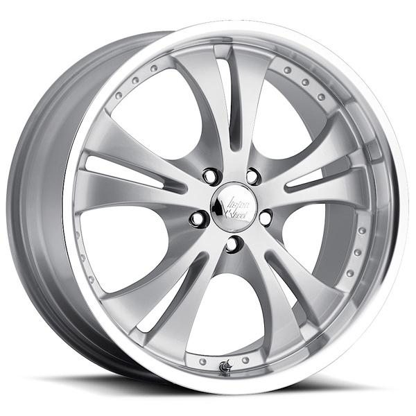 SHOCKWAVE 539 FWD SILVER RIM with MACHINE LIP by VISION WHEELS