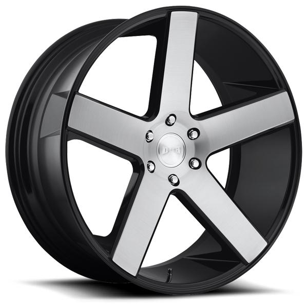 BALLER S217 GLOSS BLACK RIM with BRUSHED FACE by DUB WHEELS