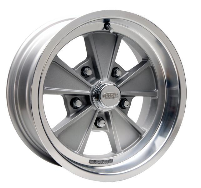 CRAGAR 500G ELIMINATOR GRAY RIM with MACHINED LIP by SPECIAL BUY WHEELS