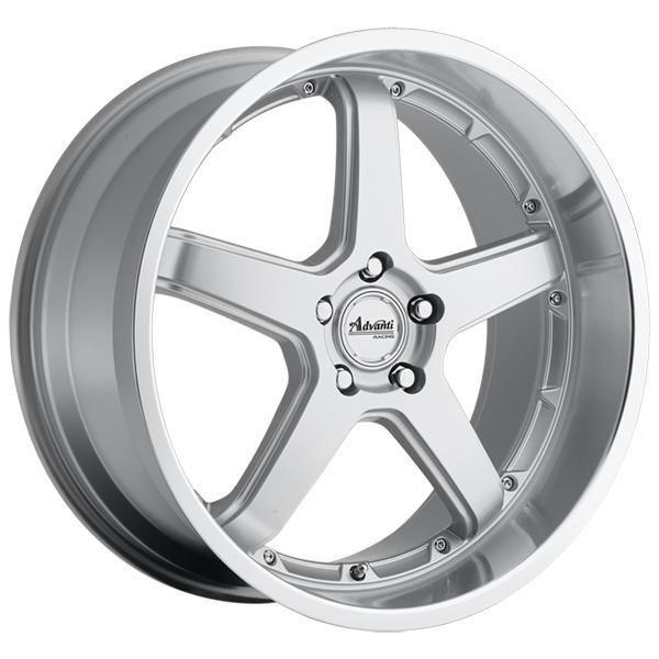 ADVANTI A2 TRAKTION SILVER RIM with MACHINED LIP by SPECIAL BUY WHEELS