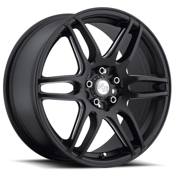 NR6 M106 MATTE BLACK RIM with MILLED SPOKES by NICHE WHEELS
