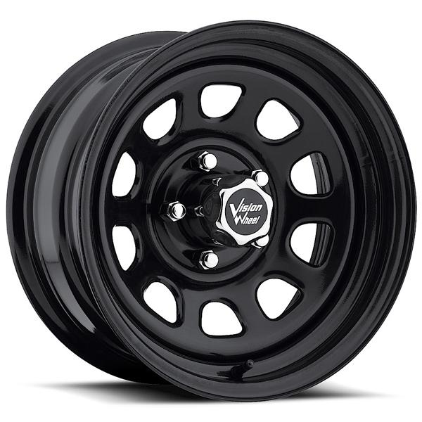 D-WINDOW 84 RWD BLACK RIM cap is additional $15 each by VISION WHEELS