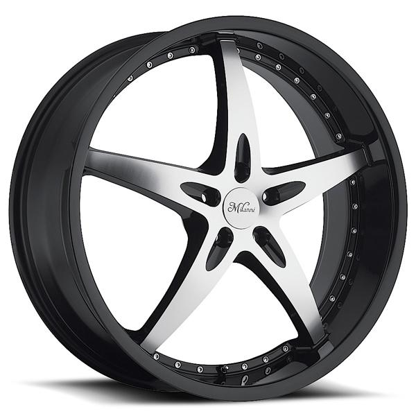 ZS-1 453 FWD GLOSS BLACK RIM with MACHINED FACE and BLACK LIP by MILANNI WHEELS