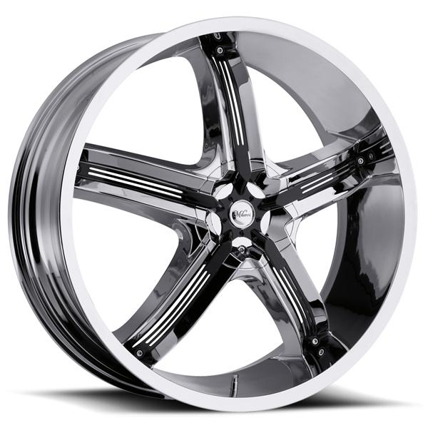 BEL AIR 5 459 FWD CHROME RIM with BLACK INSERTS by MILANNI WHEELS