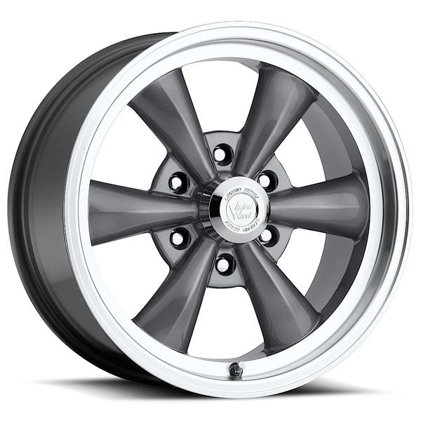 LEGEND 6 TYPE 141 GUNMETAL RIM with MACHINED LIP by VISION WHEELS