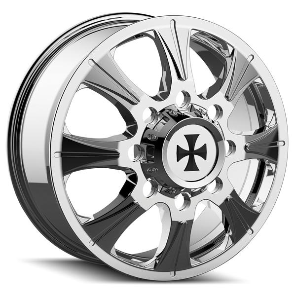 BRUTAL 9105 DUALLY CHROME FRONT RIM by CALI OFF-ROAD WHEELS