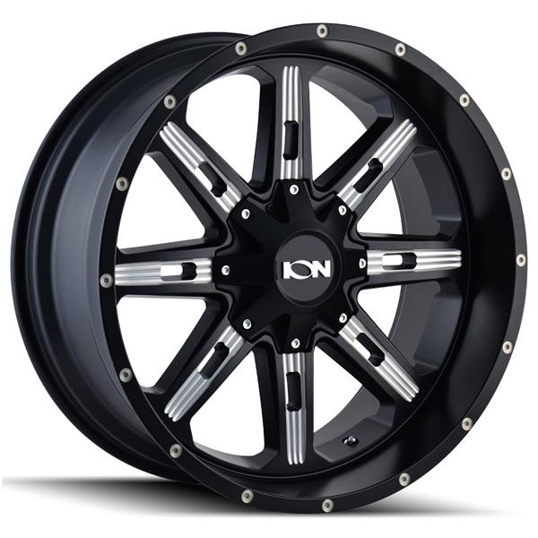 TYPE 184 SATIN BLACK RIM with MILLED SPOKES by ION ALLOY WHEELS