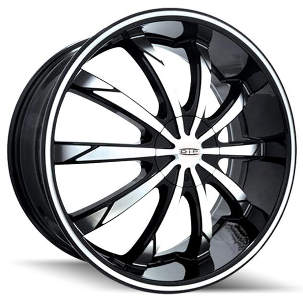 SLACK D66 BLACK RIM with MACHINED FACE and RING by DIP WHEELS