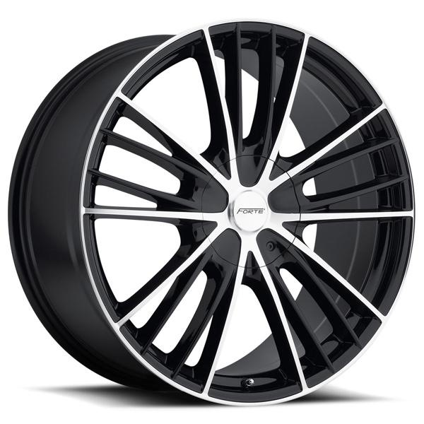 F67 NIGHT MOVES BLACK RIM with MIRROR FACE by FORTE WHEELS