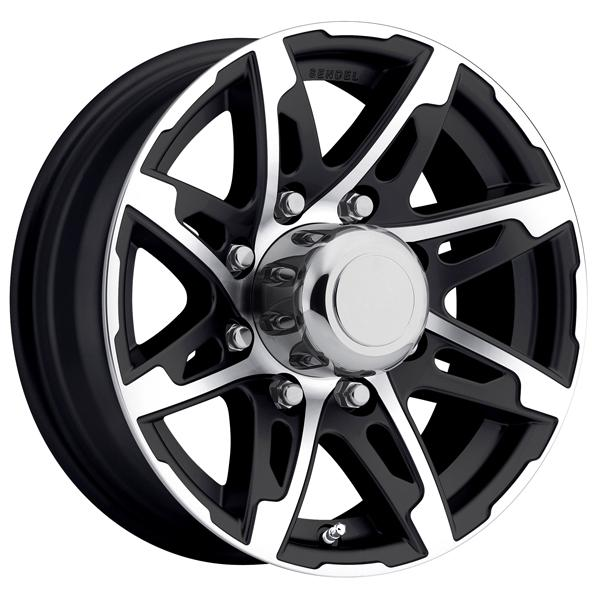 TRAILER T10 BLACK MACHINED RIM by SENDEL WHEELS