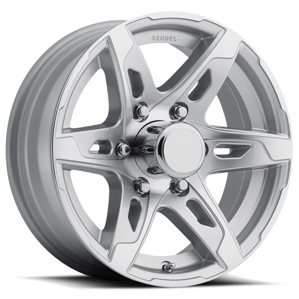 TRAILER T10 SILVER MACHINED RIM by SENDEL WHEELS