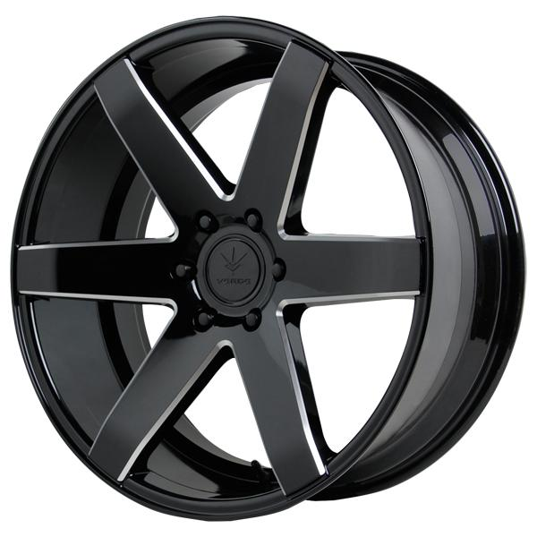 INVICTUS GLOSS BLACK RIM with MILLED WINDOWS by VERDE WHEELS