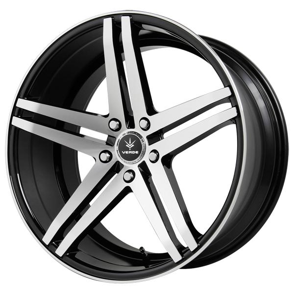 PARALLAX GLOSS BLACK RIM with MACHINED FACE and LIP by VERDE WHEELS