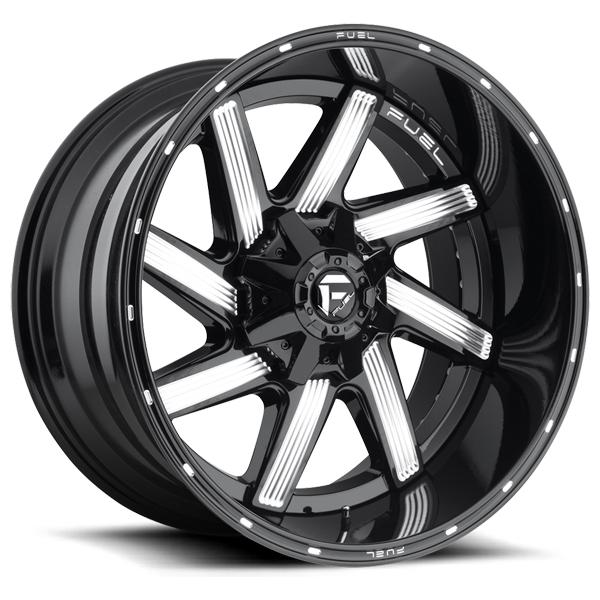 MOAB D242 GLOSS BLACK MILLED RIM by FUEL TWO-PIECE SERIES
