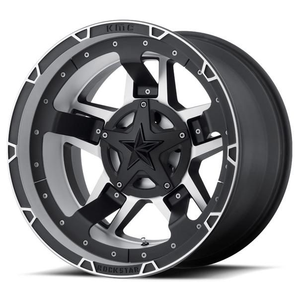 XD827 RS3 MATTE BLACK MACHINED RIM by XD SERIES WHEELS