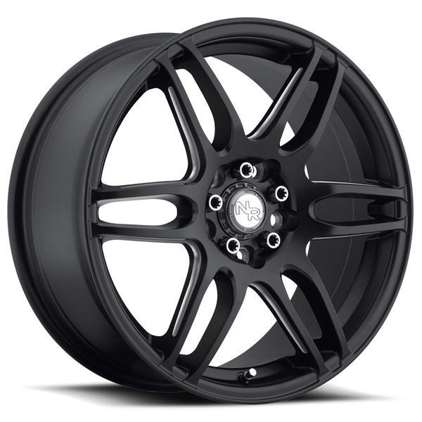 NICHE NR6 M106 MATTE BLACK RIM with MILLED SPOKES DISPLAY SET 1 SET ONLY - SOLD AS IS by SPECIAL BUY WHEELS